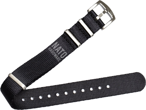 NATO Hardware Diver Strap Strap (Color: Black / 20mm)