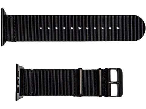 NATO Hardware Watch Strap For Apple Watch (Color: Black / 20mm)