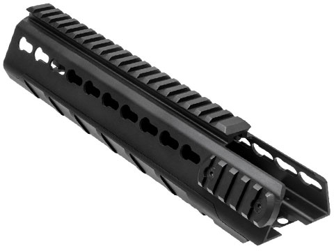 NcSTAR VISM Extended Keymod Triangle Mid-Length Handguard for M4 / AR15 Rifles