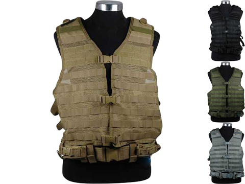 NcSTAR Tactical MOLLE Vest w/ Hydration Pouch and Pistol Belt (Color: Black)