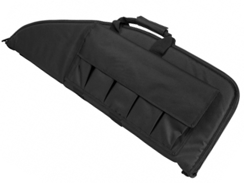 NcSTAR Tactical Deluxe 38 Padded Rifle Bag w/ Built-in Pouches (Color: Black)