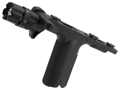 VISM By NcStar VGF Vertical Grip with Integrated Strobe Flashlight (Mount: M-LOK)