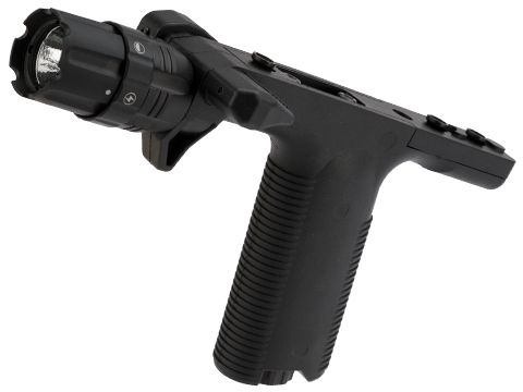 VISM By NcStar VGF Vertical Grip with Integrated Strobe Flashlight (Mount: Keymod)