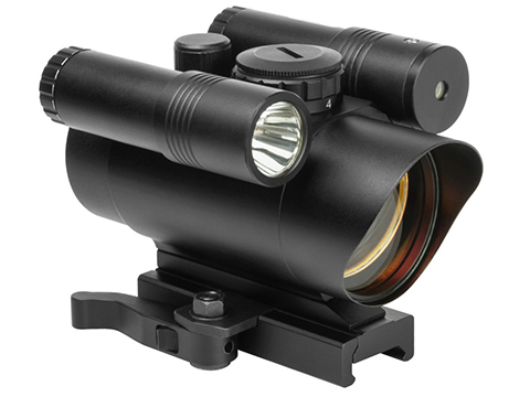 VISM by NcStar Red Dot Sight w/ Built-In Green Laser and LED Flashlight