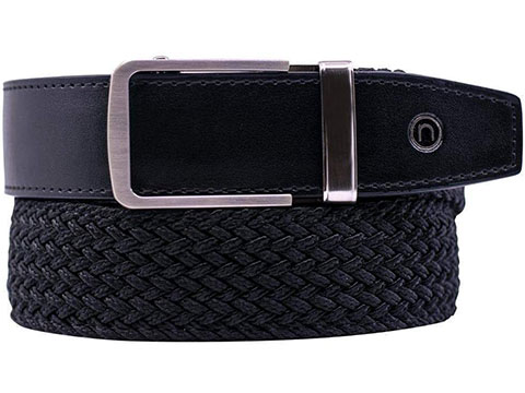 NexBelt PreciseFit™ Classic Micro Adjustment Ratcheting Braided Belt (Color: Black w/ Chrome Buckle)