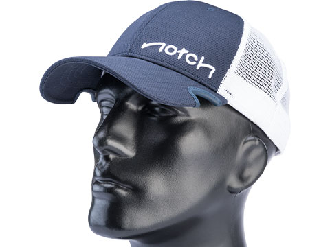Notch X Evike.com Fishing Mesh Snap Back Hat (Color: Navy & White / Standard Notch)
