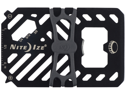 Nite Ize Financial Tool® Stainless Steel Wallet Multi Tool (Color: Black)