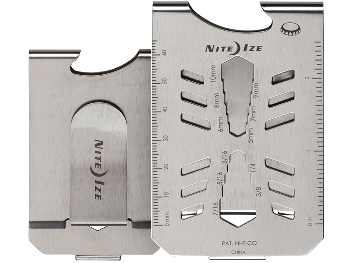 Nite Ize Financial Tool® Stainless Steel Multi Tool Money Clip