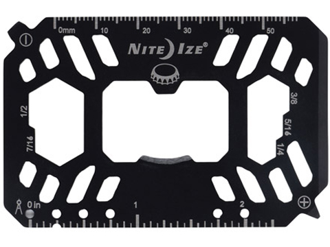 Nite Ize Financial Tool® Stainless Steel Multi Tool Card (Color: Black)