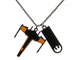Star Wars Black Squadron Rebel X-Wing Metal Chain Necklace