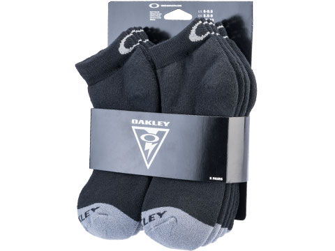 Oakley Performance Basic No Show Socks - Pack of 5 (Color: Black / Medium)