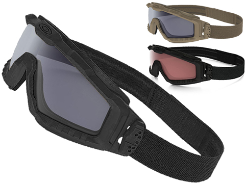 Oakley SI Ballistic ALPHA Halo Full Seal Goggles (Color: Matte Black with Grey Lens)