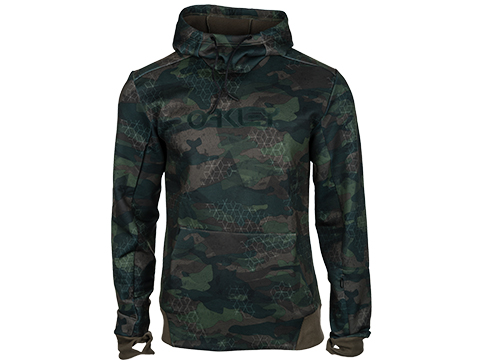 Oakley Hooded Scuba Fleece Pullover (Color: Camo / Small)