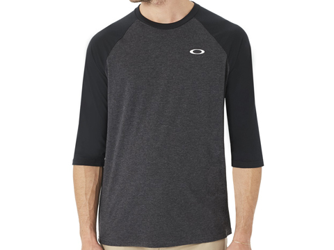 Oakley 50 SLV Raglan T-Shirt (Size: Blackout Light Heather / Medium)