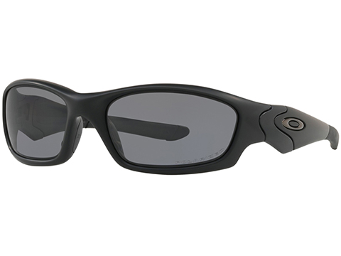 Oakley Straight Jacket Sunglasses (Color: Matte Black / Grey Polarized)
