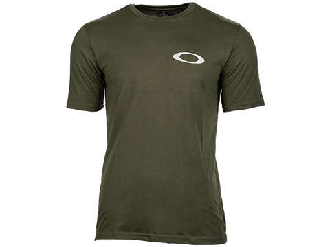 Oakley Tab Tee Short Sleeve Logo T-Shirt (Color: Dark Brush / Large)