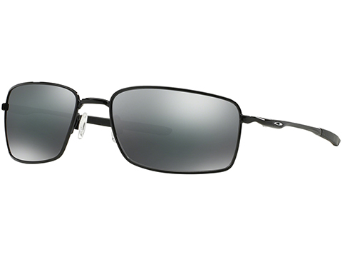 Oakley Square Wire Sunglasses (Color: Polished Black / Black Iridium)