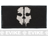 Avengers Ghost Embroidered Patch - Black