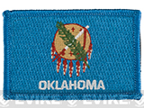 Evike.com Tactical Embroidered U.S. State Flag Patch (State: Oklahoma The Sooner State)