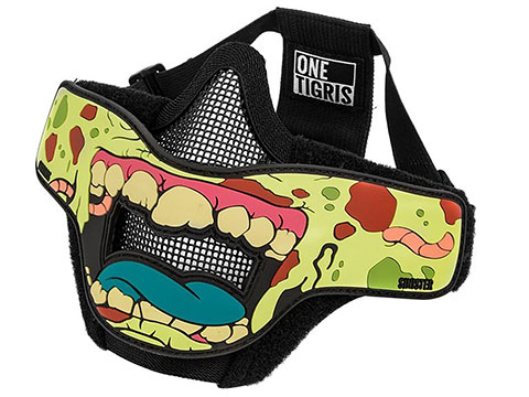 OneTigris Face Off Foldable Mesh Half-Face Mask (Type: Zombie / Sinister)