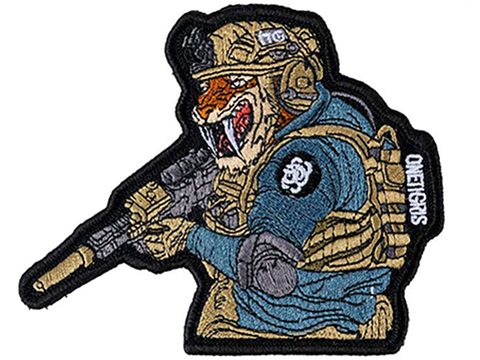 OneTigris Callsign Tigris Mascot Hook and Loop Patch