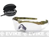 Oakley SI Ballistic M Frame 3.0 Strike Array Shooting Glasses (Color: Multicam / Clear, Smoke Grey Lenses)