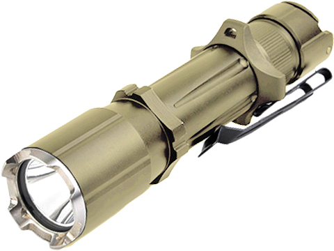 Opsmen FAST 501A Compact High Output Flashlight with Crenulated Bezel (Color: Coyote)