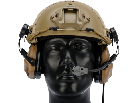 Earmor M32H MOD3 Tactical Communication Hearing Protector for ARC FAST MT Helmets (Color: Coyote Brown)