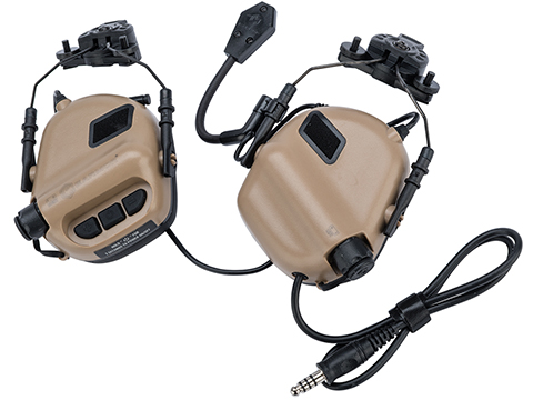 Earmor M32H MOD3 Tactical Communication Hearing Protector for Team Wendy Helmet Rails (Color: Tan)