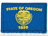 Evike.com Tactical Embroidered U.S. State Flag Patch (State: Oregon The Beaver State)