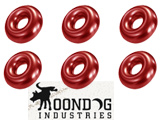 Evike.com Moondog Industries Universal Gas Fill O-Ring Set for Airsoft Gas Gun Magazines (Color: Red)