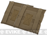 Avengers MOLLE Side Panel for Airsoft Plate Carriers (Color: Coyote Brown / Small)