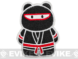 z Epik Panda Ninja Embroidered Hook and Loop Morale Patch - Black / Red