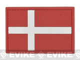 PVC Hook and Loop International Flag Patch (Flag: Denmark)