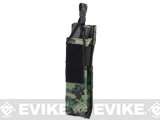 Matrix Airsoft SMG Single Magazine MOLLE Pouch (Color: Digital Woodland)