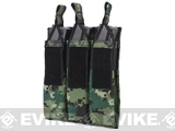 Matrix Airsoft SMG Triple Magazine MOLLE Pouch (Color: Digital Woodland)