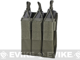 Matrix Airsoft SMG Triple Magazine MOLLE Pouch - Foliage Green