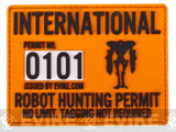 Evike.com Robot Hunting Permit PVC Hook and Loop Patch