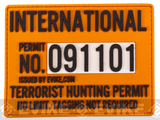 Evike.com Terrorist Hunting Permit PVC Hook & Loop Patch