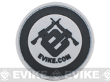 Officially Licensed Evike.com Circle PVC Hook and Loop Morale Patch - Black and Gray