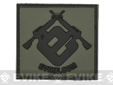 Official Licensed Evike.com Subdued PVC Morale Patch (Black/Green)