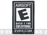 Officially Licensed Evike.com Airsoft Rated E For Everyone PVC Hook and Loop Patch