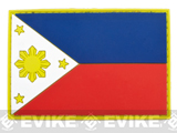 PVC Hook and Loop International Flag Patch (Flag: Philippines)