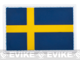 Sweden Flag PVC Hook and Loop Patch