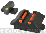 SOCOM Gear Fiber Optic Sight Set for SAI BLU ISSC M22 Lonewolf & Compatible Airsoft Gas Blowback Pistols - Part # 44 + 46