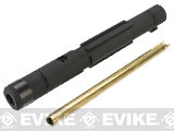 Wii Tech Aluminum Outer Barrel w/ Tightbore Inner Barrel for KSC System-7 MP9 Series GBB SMG's - Black