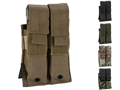 Pro-Arms Tactical MOLLE Double Pistol Magazine Pouch (Color: Black)