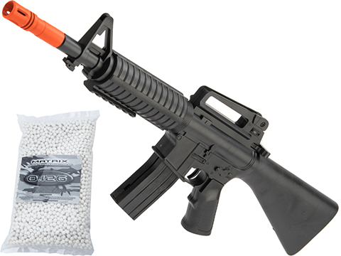 ASP 1004-1 Mini M16 Single Shot Spring Powered Airsoft Rifle (Package: Rifle / Add 5000 BBs)