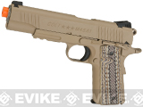 Colt Licensed 1911 Tactical Full Metal CO2 Airsoft Gas Blowback Pistol by KWC (Model: Desert Sand)