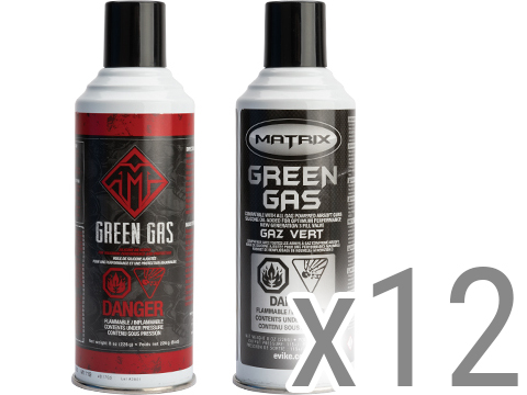 Airsoft G-1000 Power Green Gas (QTY: 12 cans)